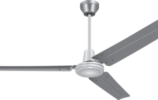 a ceiling fan in reverse mode for Winter