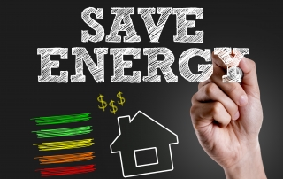 Hand Writing Save Energy to introduce energy saving tips