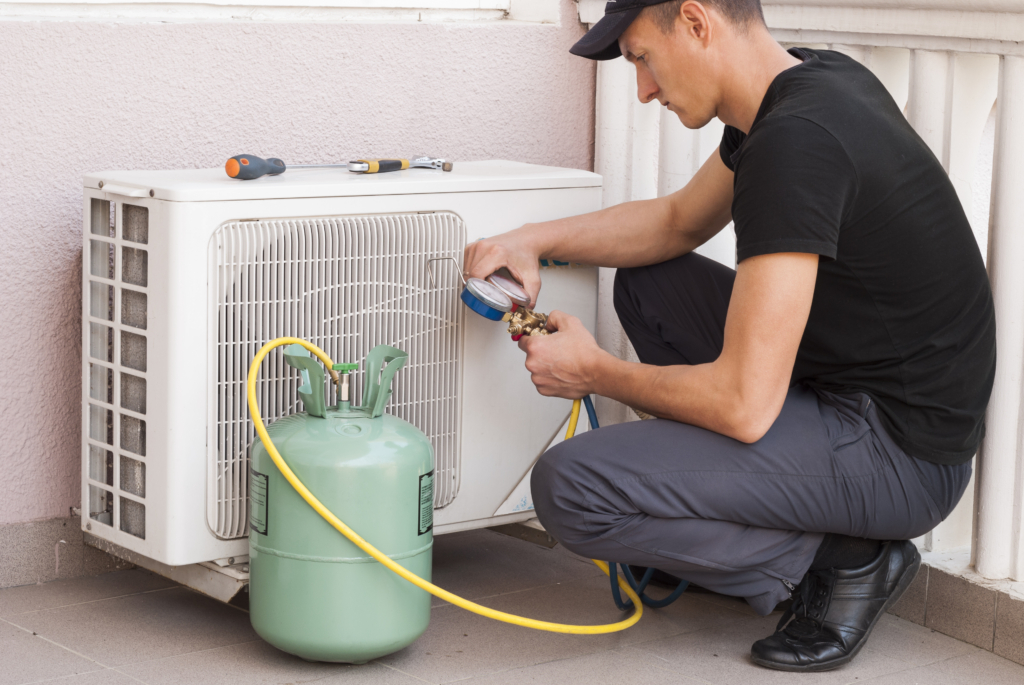 professional filling air conditioner with coolant