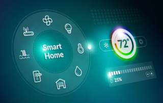 futuristic smart thermostat